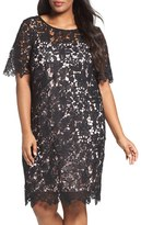 Chetta B Plus Size Women's Lace Sheath Dress
