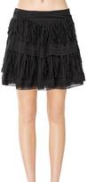 Max Studio Cotton Voile Short Skirt