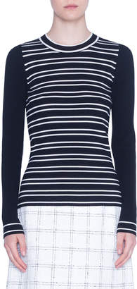 Akris Punto Striped Crewneck Merino Sweater