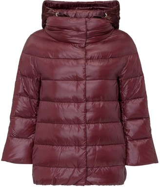 Herno Cropped Sleeve Hooded Down Jacket