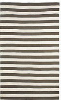 DwellStudio Draper Stripe 5x7.6 Rug in Major Brown