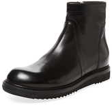 Rick Owens Roper-Toe Leather Short Boot
