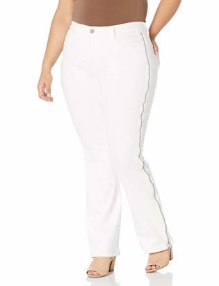 Skinnygirl Women's Misses Power Moves High Rise Zip Flare Jean