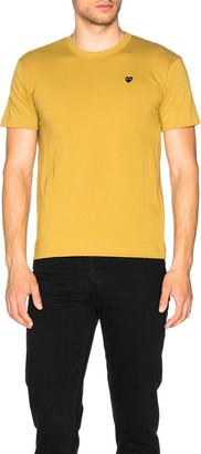 Comme des Garcons Small Black Emblem Cotton Tee in Yellow | FWRD