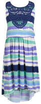 Xtraordinary 7-16 Striped Hi-Low Dress