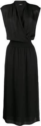 Theory V-Neck Midi Dress