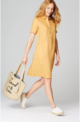J. Jill J.Jill Linen Short Sleeve A-Line Dress