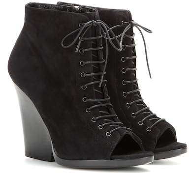 Burberry Virgina Ari suede open-toe ankle boots