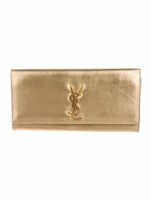 Saint Laurent Classic Monogram Sac Cassandre Clutch Gold