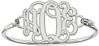 FINE JEWELRY Sterling Silver Personalized Etched Monogram Bangle Bracelet
