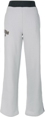 Jo No Fui Beaded Detail Track Pants