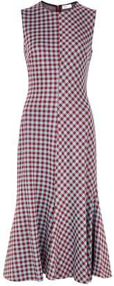 Rosetta Getty Gingham Stretch-knit Midi Dress