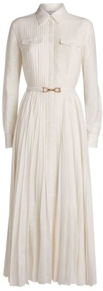 Gabriela Hearst Erella Pleated Shirt Dress