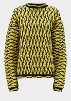 Versace Bi-Color Argyle Knit Sweater