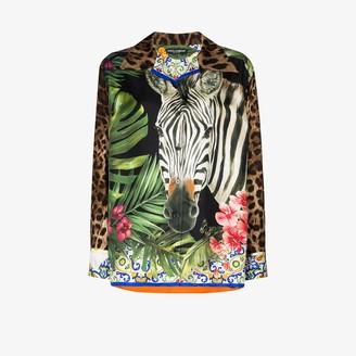 Dolce & Gabbana Animal Print Silk Shirt