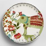 Cost Plus World Market Light Green Nomad Elephant Plates, Set of 4