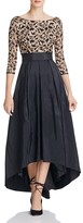 Eliza J Embroidered Taffeta Gown