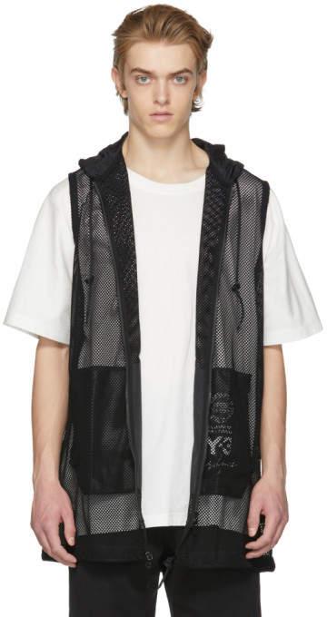 Y-3 Black Mesh Vest