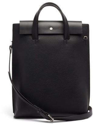 Nosakhari - Addison Slim Leather Laptop Tote Bag - Black