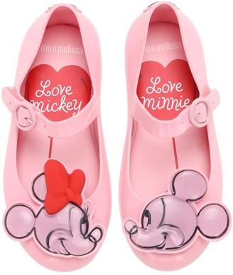 Mini Melissa Minnie & Mickey Mouse Rubber Ballerinas