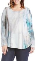 Karen Kane Plus Size Women's Print Shirttail Top