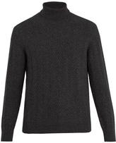 Ermenegildo Zegna Roll-neck chevron-knit sweater