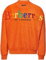 Burberry Cotton Terry Logo Sweatshirt