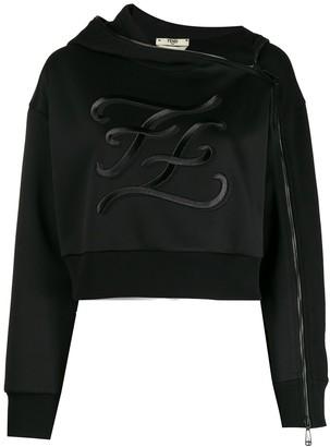 Fendi embroidered Karligraphy motif hoodie