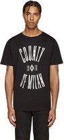Marcelo Burlon County of Milan Black Egger T-Shirt