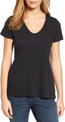 Caslon Rounded V-Neck T-Shirt