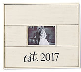 Mud Pie Wedding Collection Est. 2017 Distressed Wood Frame