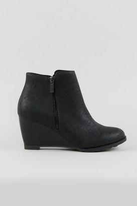 Wallis Black Wedge Heel Boot