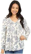 Brigitte Bailey Elaria Long Sleeve Printed Top with Tassels