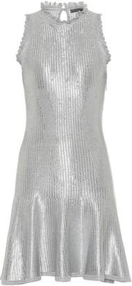 Alexander McQueen Metallic knit minidress