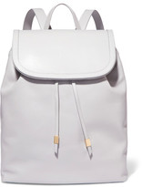 Iris and Ink Suede-Trimmed Leather Backpack