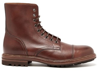 Brunello Cucinelli Lace Up Leather Boots - Mens - Brown