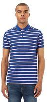 Ben Sherman Bright Blue Classic Striped Piqu Polo Shirt