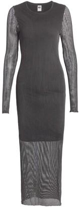 NSF Anouk Mesh Midi Dress