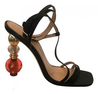 Jacquemus Bordighera Black Leather Sandals