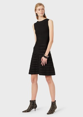 Emporio Armani Stretch, Rib-Knit Dress