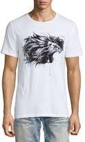 Robin's Jeans Embellished Lion Logo T-Shirt, White
