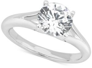Gia Certified Diamonds Gia Certified Diamond Solitaire Engagement Ring (1-1/2 ct. t.w.) in 14k White Gold