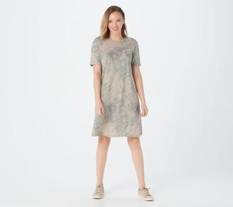 Logo by Lori Goldstein Cotton Modal Printed T-Shirt Dress