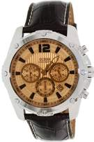 GUESS GUESS? Men's U0166G2 Leather Quartz Watch with Dial