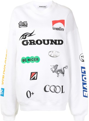 Ground Zero Logo Print Sweater