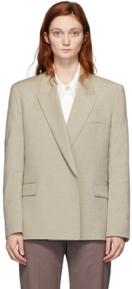 Low Classic Beige Wool Double Blazer