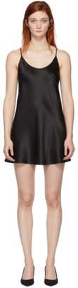 La Perla Black Silk Short Slip Dress