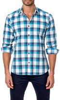 Jared Lang Long Sleeve Plaid Semi-Fitted Shirt