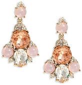 Oscar de la Renta Goldtone Pave Faceted Crystal Drop Earrings