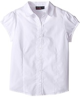 Nautica Girls Plus Ruffle Placket Blouse (Big Kids)